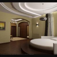 Интерьер жилого дома. Спальня
