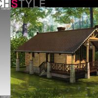 3d модель загородного дома в Подмосковье