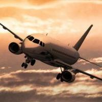 Самолет СухойСуперджет 100. 3D модель. Рендер