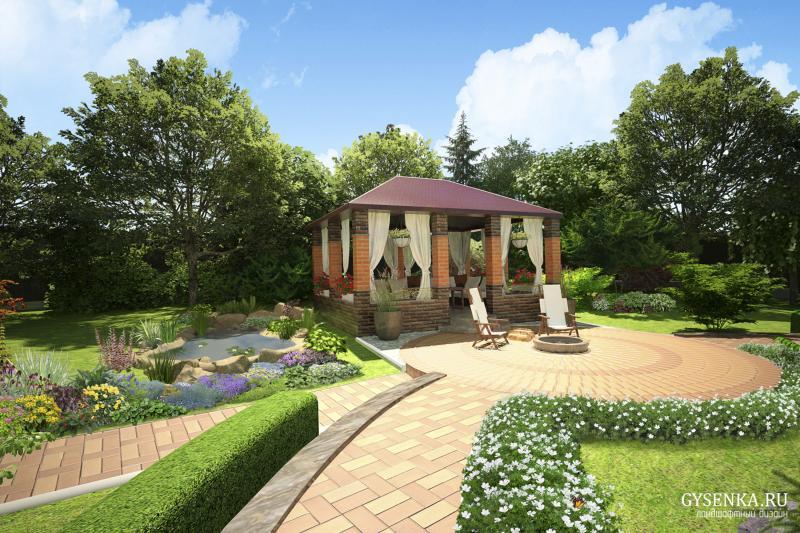 Ландшафтный дизайн садового участка