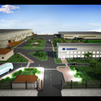 Визуализация завода (въезд)