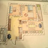 2хкомнатная квартира свободной планировки