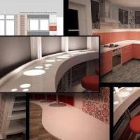 Квартира на 21 этаже. Кухня-столовая. Москва