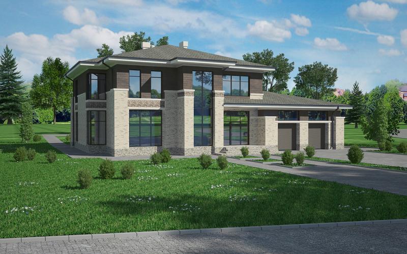 Дом в стиле Райта 350м2