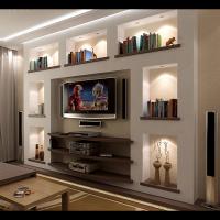 Интерьер 2-х комнатной квартиры с перепланировкой (ТВ-ниша в гостевой)