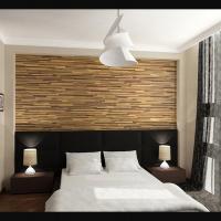 Визуализация спальни частного жилого дома. Сеул
