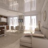 Дизайн интерьера квартиры площадью 100 м 2 в жк Триумф г. Сочи