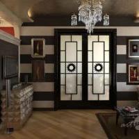 Дизайн и визуализация интерьера квартиры в стиле Ар-деко