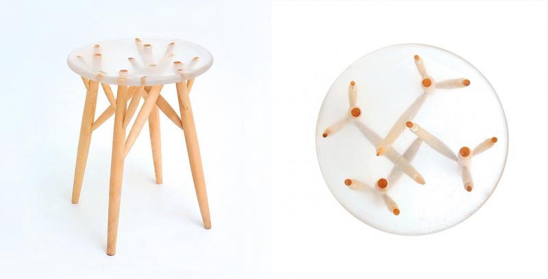 """Дизайн - проект табурета  """"TREE STICKS"""""""