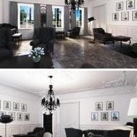 Дизайн интерьера и 3D визуализация (сигарная комната)