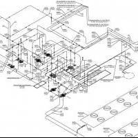 аксонометрия венткамеры с оборудованием системы холодоснабжения 2 в одну линию